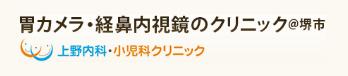 胃カメラ 経鼻内視鏡のクリニック@堺市 上野内科・小児科クリニック